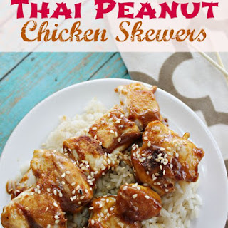 Thai Peanut Chicken Skewers Recipe