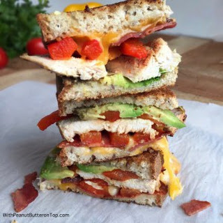 Chicken Bacon and Avocado Grilled Cheese.