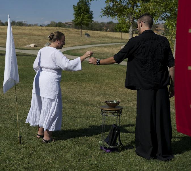 Photo: The greeters prepare