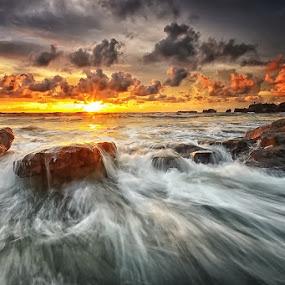 Wax by Hendri Suhandi - Landscapes Beaches ( bali, nature, sunset, rock, beach, landscape )