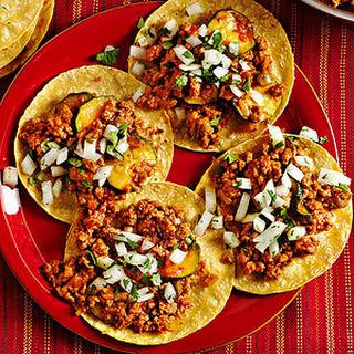 Chorizo-Calabaza Tacos.