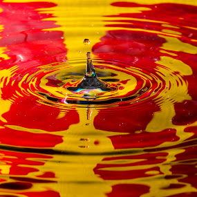 Water Colors by Fitz C - Artistic Objects Other Objects ( water, red, droplet, drop, yellow )