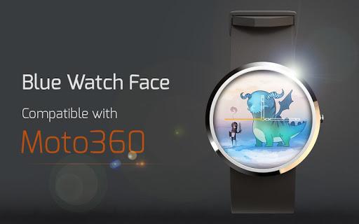 Blue Watch Face
