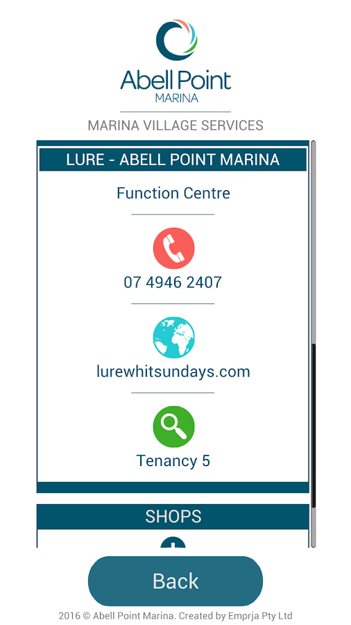 Abell Point Marina E-concierge- screenshot