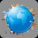 World map atlas 2019 - offline world map 2019 icon