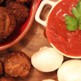 Arancini with Easy Marinara Sauce.