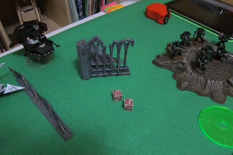Photo: Turn 2 - end of Dark Angel turn - the Wyches were destroyed and the Land Speeder takes aim with its rockets