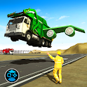 City Garbage Flying Truck- Flying Games icon