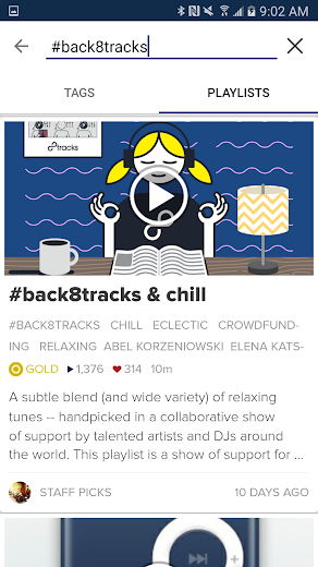 Screenshot 3 for 8tracks's Android app'