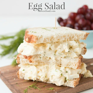 Dill Egg Salad Wrap.