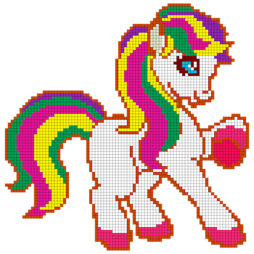 Little Pony Color by Number - Pixel Art No.Color Icon