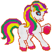 Little Pony Color by Number - Pixel Art No.Color