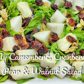 My Camembert, Cranberry, Pear & Walnut Salad Recipe