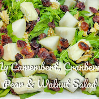 My Camembert, Cranberry, Pear & Walnut Salad.