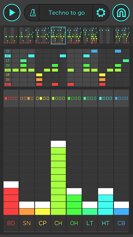 SNAP - Drum Machine by Reactable- screenshot