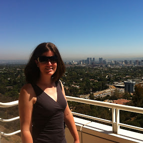 At the Getty by Justin Kifer - People Portraits of Women ( skyline, getty, woman, la, los angeles )