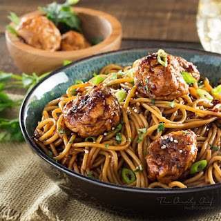 Kung Pao Chicken Spaghetti and Meatballs.