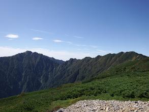 左に空木岳