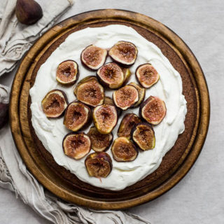 Chocolate-Almond Cake with Honey-Glazed Figs (Gluten-Free, Dairy-Free)