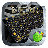 Metal GO Keyboard Theme &Emoji