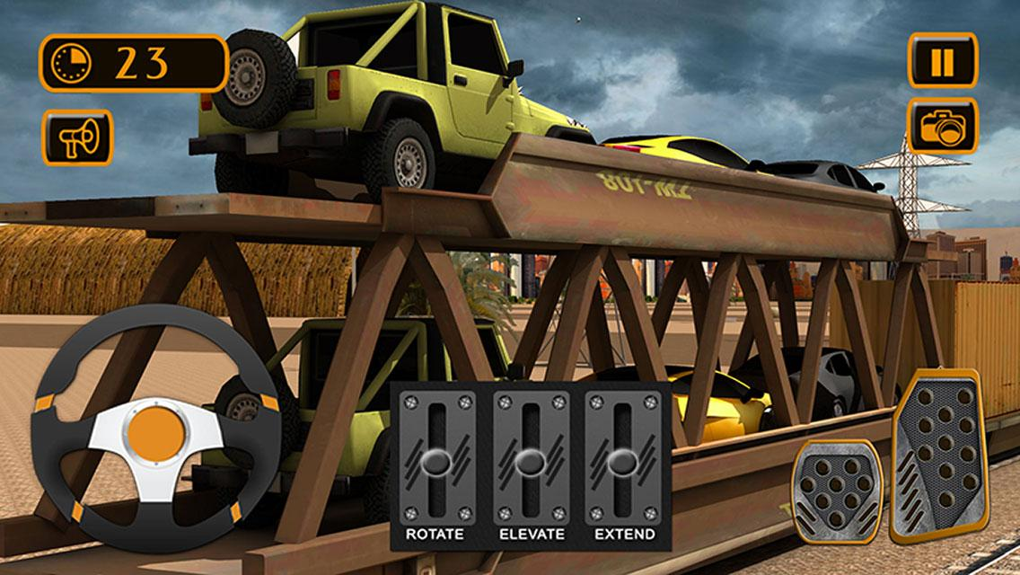 Train Cargo Crane Simulator 3D- screenshot