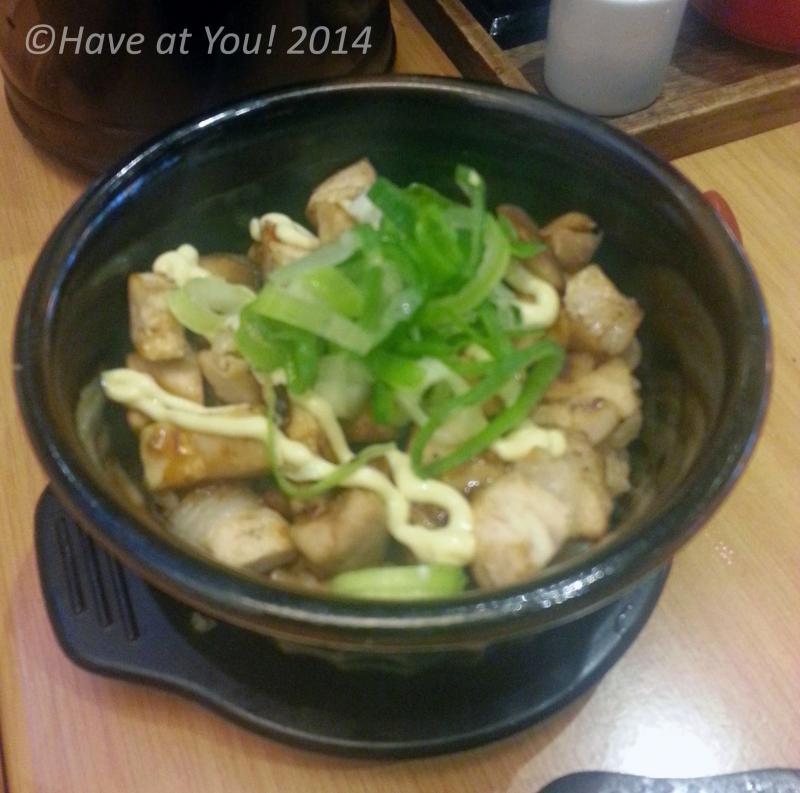 chasiu rice in claypot