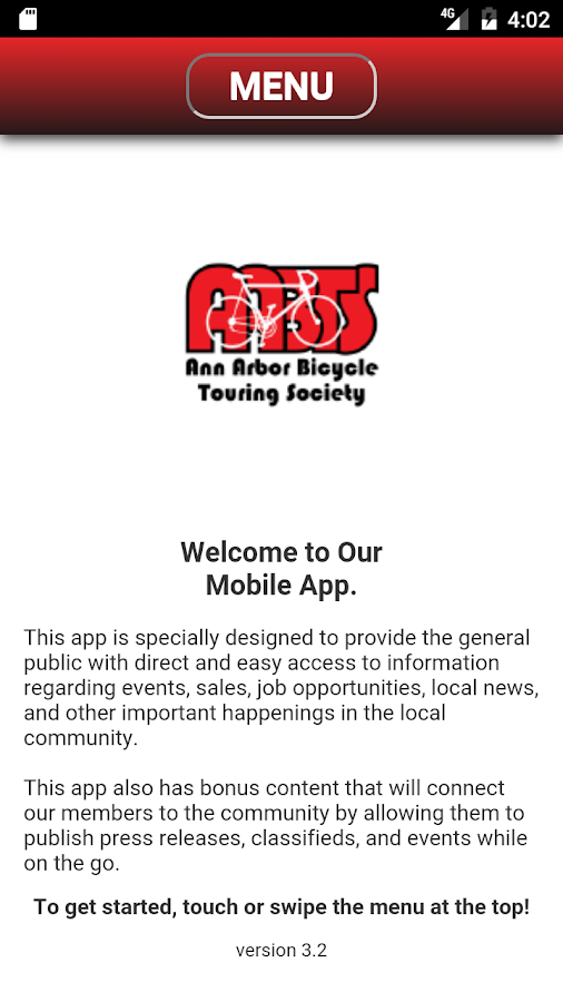 AABTS Mobile App- screenshot
