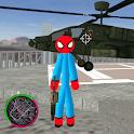 Flying-Spider StickMan Rope Hero Strange Gangster icon