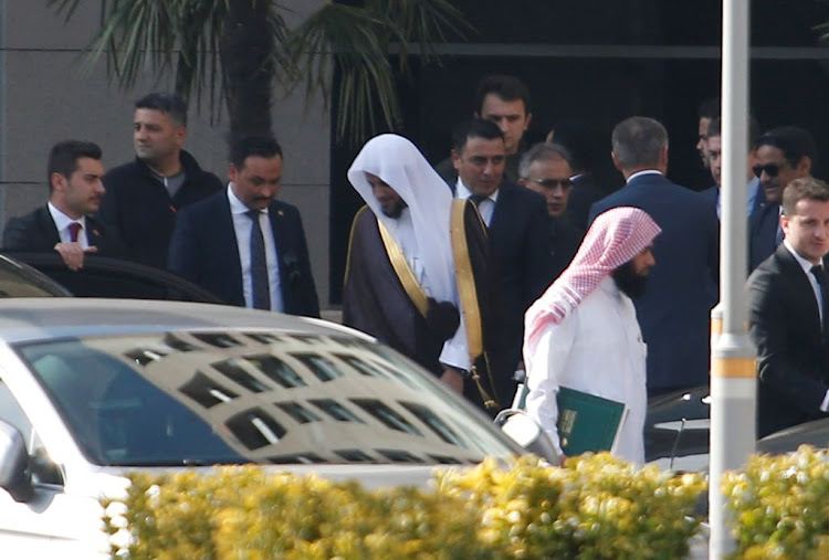 Saudi public prosecutor Saud Al Mojeb leaves from the Justice Palace in Istanbul, Turkey, on October 30 2018.