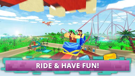 Dino Theme Park Craft: Ride Dinosaur Rollercoaster screenshots 3