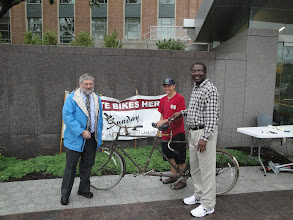 Photo: Donating homemade tandem (went to Barbados)