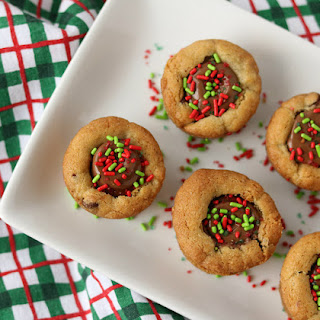 Christmas Mini Chocolate Chip Cookie Cups Recipe