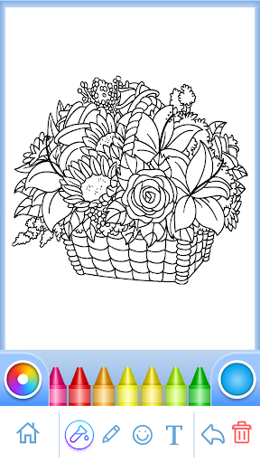 Coloring Book for Adults filehippodl screenshot 5