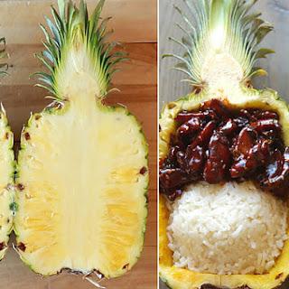 Teriyaki Chicken Pineapple Bowls.