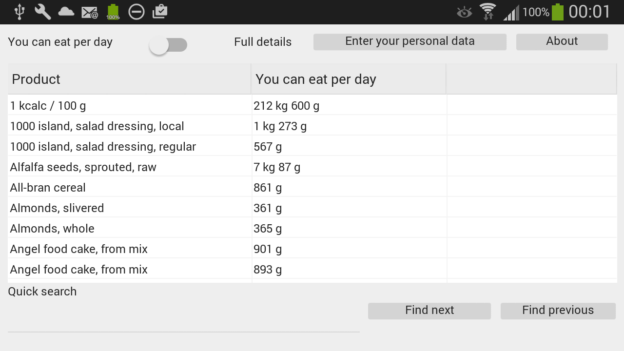 Calorie Calculator- screenshot