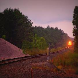 Train by Brenda Shoemake - Transportation Railway Tracks
