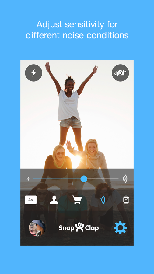 Snap Clap Camera with Wear- screenshot
