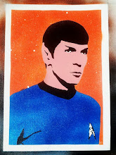 Foto: Spock (Leonard Nimoy)  Handmade stencil with acrylic spray metal colours by F&N (Fausto Novelli)  NON DISPONIBILE
