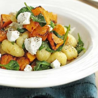 Gnocchi With Roasted Squash & Goat's Cheese.