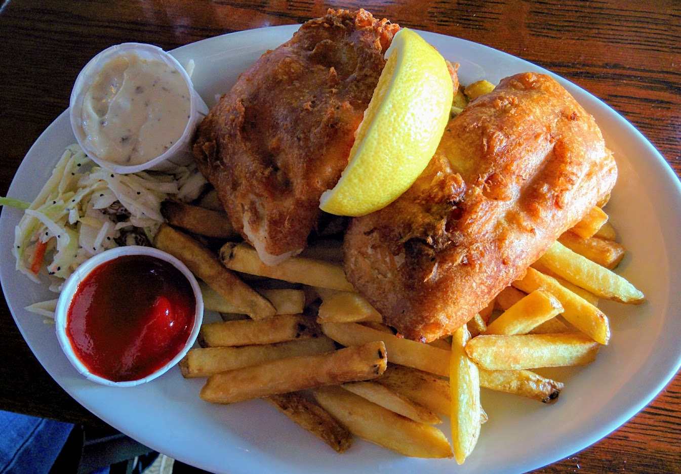 Fish and Chips at Steveston, Richmond BC