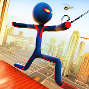 Grand Stickman Rope Hero Adventure
