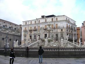 Photo: Palermo piazza Pretorian suihkulähde.