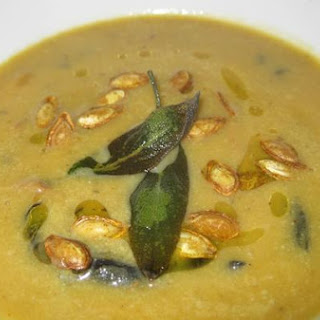 Curried Butternut Squash and Wild Mushroom Soup