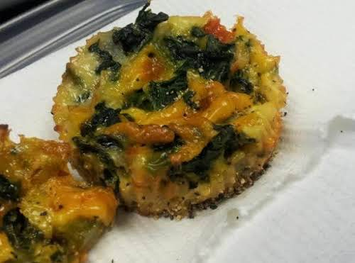 "Healthy Bite-Sized Veggie Quiche Cupcakes ""What do you get when you combine..."