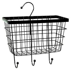 Set 2 x Raft metalic organizator cu suport, de bucatarie, Negru
