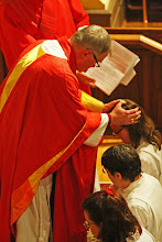Photo: Therefore, Father, through Jesus Christ your Son, give your Holy Spirit to Michelle; fill her with grace and power, and make her a deacon in your Church.