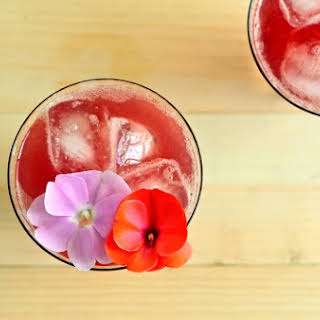 Prickly Pear and Ginger Beer Cocktail.