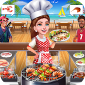 Super Chef Beach Bbq Kitchen Story Cooking Games