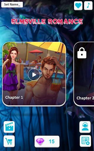 Code Triche Elmsville Romance - Jeux interactifs d'histoire mod apk screenshots 6