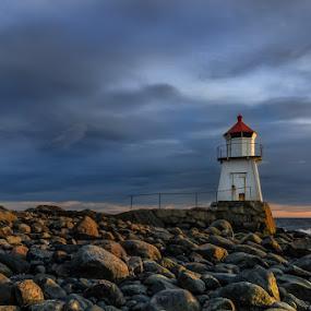 Lighthouse at Hvaler, Norway by Morten Pettersen - Travel Locations Landmarks ( hvaler, brattestø, lighthouse, norway )